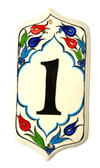 Hand Painted Ceramic House Number-1