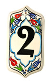 Hand Painted Ceramic House Number-2