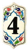 Hand Painted Ceramic House Number-4