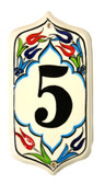 Hand Painted Ceramic House Number-5