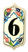 Hand Painted Ceramic House Number-6