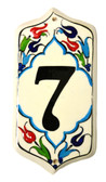 Hand Painted Ceramic House Number-7