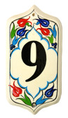 Hand Painted Ceramic House Number-9