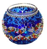 Turkish Glass Mosaic Candle Holder-#1