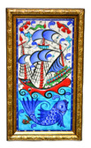 Hand Painted Turkish Ceramic Tile-#3