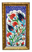 Hand Painted Turkish Ceramic Tile-Tulip Design