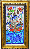 Hand Painted Turkish Ceramic Tile-#5