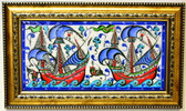 Hand Painted Turkish Ceramic Tile-#6