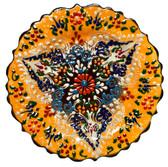 Turkish Ceramics~7 inch Plate-yellow