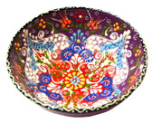Turkish Ceramics~Large Bowl~purple