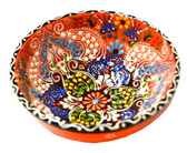 Turkish Ceramics~Medium Bowl~orange