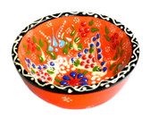 Turkish Ceramics~Small Bowl~orange