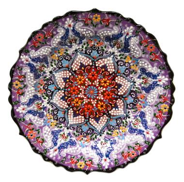 Turkish Ceramics~Hand Painted Ceramic Plate~Purple~12inch  sc 1 st  Nazar Turkish Imports & Turkish Ceramic Plates 12