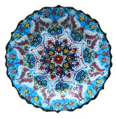 Turkish Ceramics~Hand Painted Ceramic Plate~Blue~12inch