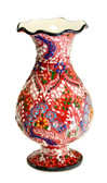 Turkish Ceramic Vase~red