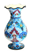 Turkish Ceramic Vase~blue