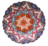 Turkish Ceramic Plate-10 inch/25cm-purple