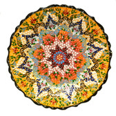 Turkish Ceramic Plate-10 inch/25cm-yellow