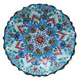 Turkish Ceramic Plate-10 inch/25cm-blue
