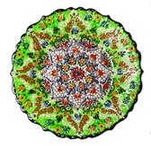 Turkish Ceramic Plate-10 inch/25cm-green