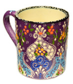 Hand Painted Ceramic Mug purple