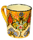 Hand Painted Ceramic Mug  yellow