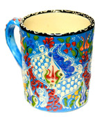 Hand Painted Ceramic Mug-blue