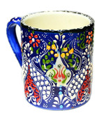 Hand Painted Ceramic Mug-navy