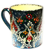 Hand Painted Ceramic Mug-dark green