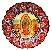 Turkish Ceramics-Ikona Series-Guadalupe-red plate-diameter:10inch (25cm)