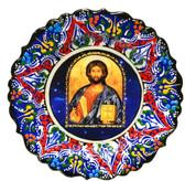 Turkish Ceramics-Ikona Series-Jesus-navy plate- diameter: 7inch (18cm)