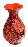 Turkish Ceramic Vase~h:6 inches/15cm-orange