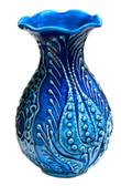 Turkish Ceramic Vase~h:6 inches/15cm-navy