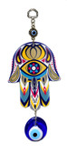 Hamsa & Evil Eye Wall Decor-metal/glass #3