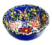 Turkish Ceramics~Small Bowl~navy
