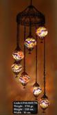 Mosaic Glass Chandelier