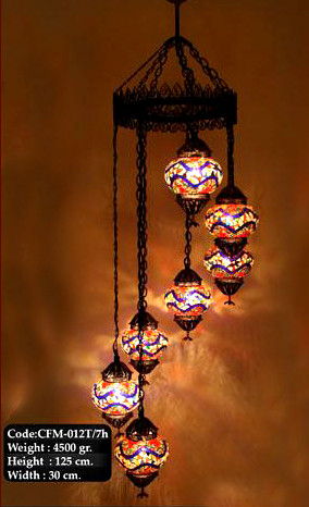 Glass mosaic chandelier 9 nazar turkish imports glass mosaic chandelier 9 aloadofball Images