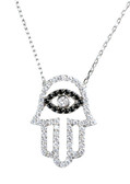 Sterling Silver Hamsa Necklace-1