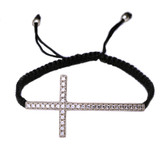 Sterling Silver Macrame Cross Bracelet-2