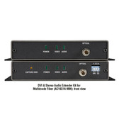 DVI-D and Stereo Audio Fiber Extender Kit, Multimode