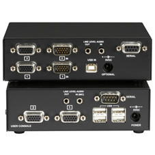 ServSwitch Brand CATx USB KVM Extender, Dual-Head VGA with Serial and Audio