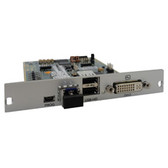 DKM HD Video and Peripheral Matrix Switch Receiver Modular Interface Cards, Single-Mode Fiber, DVI-D and USB HID Module