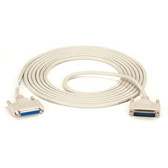 DB25 Extension Cable, DB25 Male, DB25 Female, 15-ft. (4.5-m)
