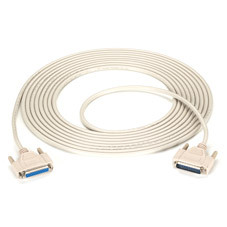 DB25 Extension Cable, DB25 Male, DB25 Female, 25-ft. (7.6-m)