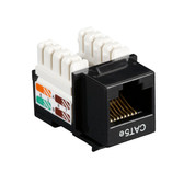 CAT5e Value Line Keystone Jack, Black, 25-Pack