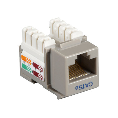 CAT5e Value Line Keystone Jack, Gray