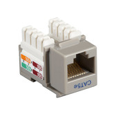CAT5e Value Line Keystone Jack, Gray, 25-Pack