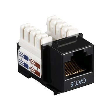 CAT6 Value Line Keystone Jack, Black