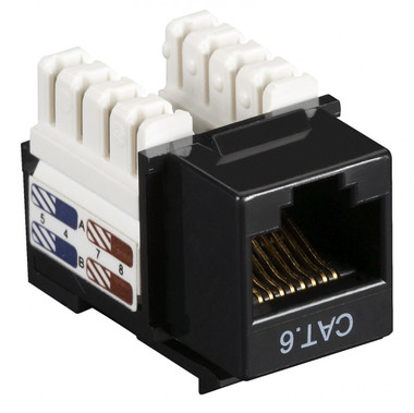 CAT6 Value Line Keystone Jack, Black, 25-Pack