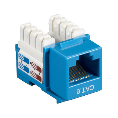 CAT6 Value Line Keystone Jack, Blue, 10-Pack